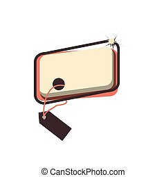 retro commercial tag hanging