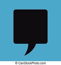 Retro converse speech bubble vector icon