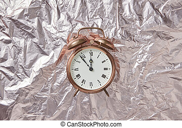 Retro cooper alarmclock on abstract background. - Christmas ...