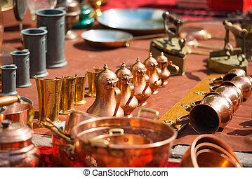 Retro copper coffee pots