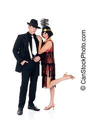 Retro couple, Lindy Hop - Attractive young couple, retro ...