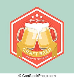 Retro Craft Beer Sign