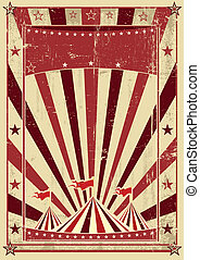 retro cream circus letter - A circus vintage poster for your...