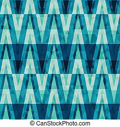 retro crystal triangle seamless pattern