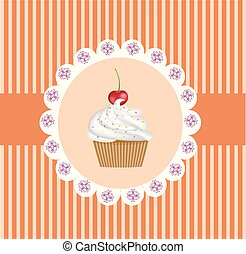 Retro cupcake background
