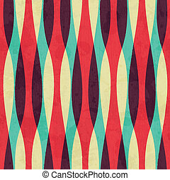 retro curves seamless pattern with grunge effect