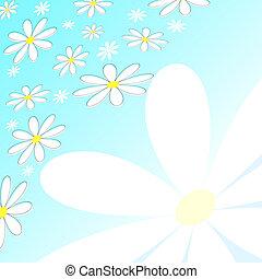 Retro daisies - Retro flower background