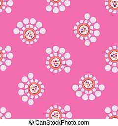 Retro Daisy Dot Flower All Over Print Vector