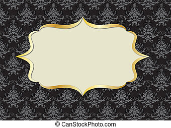 RETRO DAMASK FRAME