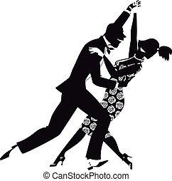 Retro dance clip-art