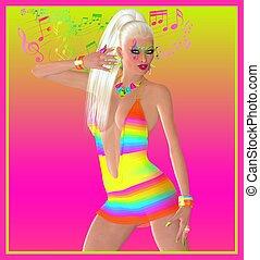 Retro dance girl fashion