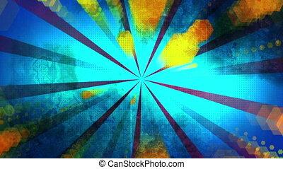 Retro decay geometric looping animated background - Animated...