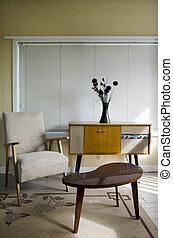 Retro decorated room - Retro room decorated with furnitures...