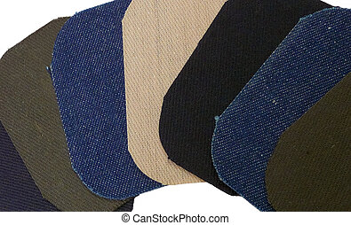 Retro Denim Patches - Seven retro iron-on denim patches in ...