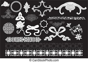 Retro design art isolated on black