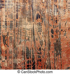 Retro design composition, grunge background or textured backdrop. With different color patterns: brown; red (orange); gray; black
