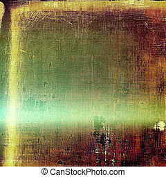 Retro design composition, grunge background or textured backdrop. With different color patterns: green; yellow (beige); brown; red (orange)