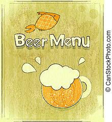 Retro Design Cover of Beer Menu