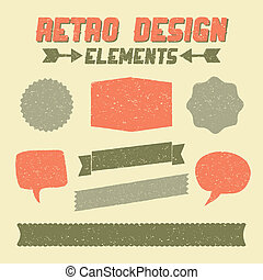 Retro Design Elements Collection