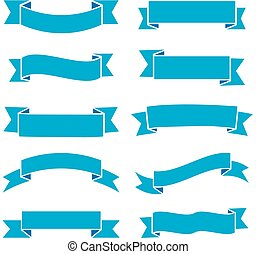 Retro design elements illustration with ribbons, labels and wreaths. vector set