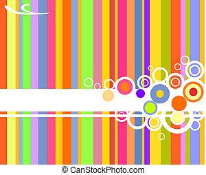 retro design - vector illustration of colorful stripes and...