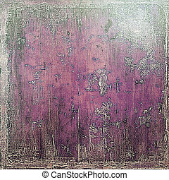 Retro design on grunge background or aged faded texture. With different color patterns: purple (violet); gray; pink; black