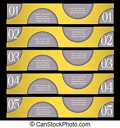 Retro Design template with circles