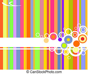 retro design - vector illustration of colorful stripes and...