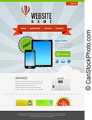 Retro design Web template