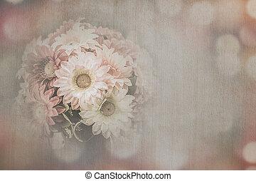 retro designa, blomma, bakgrund