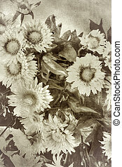 retro designa, blomningen, bakgrund