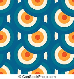 Retro different vector seamless patterns tiling.
