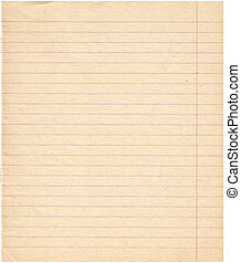 Old retro dingy lined paper.