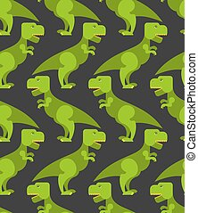 retro, dinosaure, texture, predator., t-rex, fond, fabric., ancien, reptile, préhistorique, grand, pattern., vert, seamless, mignon, childrens, tyrannosaurus