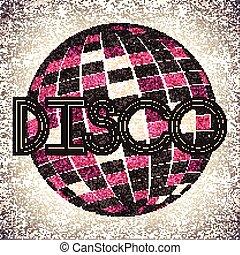 Retro Disco Ball Background
