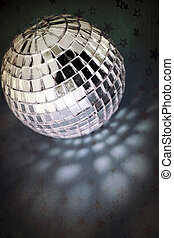 retro disco ball with stars