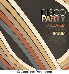 Retro disco flyer template