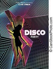 Retro Disco Party Flyer Template