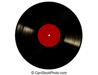Retro disk - Vintage vinyl record disk isolated on white