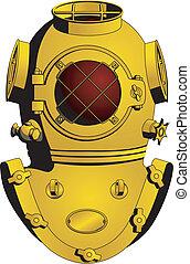 Retro diving helmet