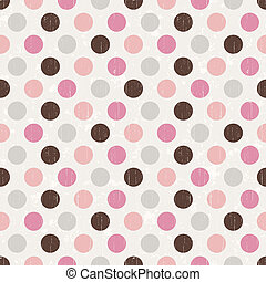 Retro dot pattern background - Seamless retro dot pattern...