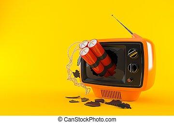 retro, dynamite, tv