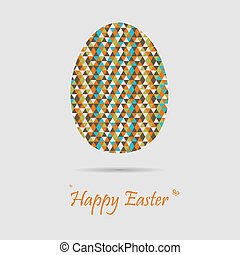 Retro easter greeting cards
