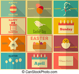 Retro Easter Labels