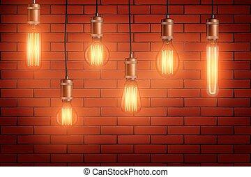 Retro edison light bulb set - Decorative Retro design edison...