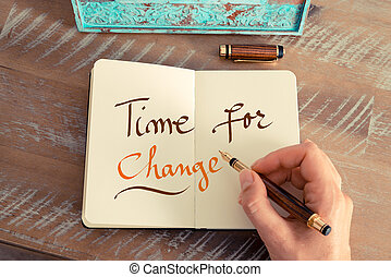 Handwritten text TIME FOR CHANGE