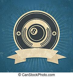 Retro Eight Ball Emblem