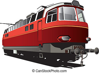 retro electric train - Vectorial image of 60s style electric...