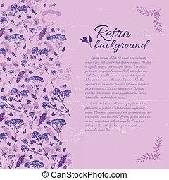 Retro Elegant Floral Template