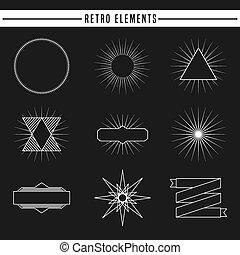 retro elements  design